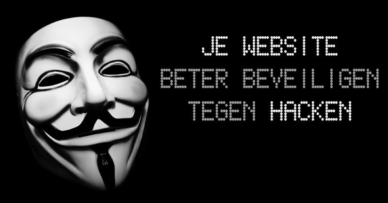 je website beter beveiligen tegen hacken