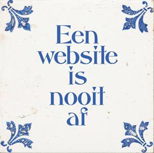 een website is nooit af